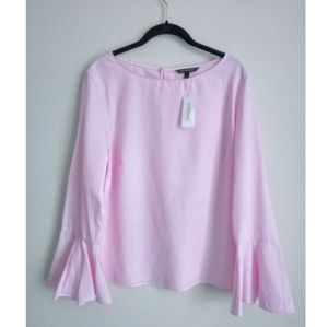 NWT BANANA REPUBLIC PINK BELL SLEEVE TOP